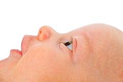 Ciérrese para arriba en cara del bebé Fotografía de archivo libre de regalías