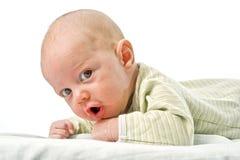Ciérrese para arriba en cara del bebé Foto de archivo libre de regalías