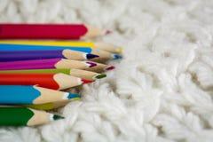 Ciérrese para arriba en el lápiz del color Foto de archivo