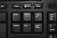 Ciérrese para arriba en el parte movible, hogar, página para arriba, cancelación, extremo, BU de la página abajo Imagenes de archivo