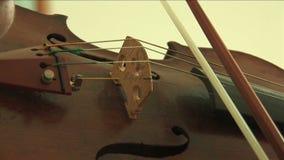 Ciérrese para arriba en el violín almacen de metraje de vídeo