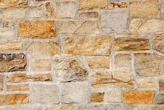 Ciérrese para arriba en fondo de la pared de piedra Fotografía de archivo