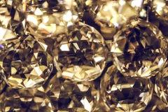 Ciérrese para arriba en la lámpara que brilla del cristal Foto de archivo