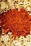 Ciérrese para arriba en la sopa inmediata seca china Imagen de archivo