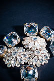 Ciérrese para arriba en las joyas del diamante Foto de archivo libre de regalías