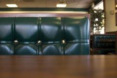Ciérrese para arriba en una cabina del restaurante Imágenes de archivo libres de regalías