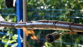 Ciérrese para arriba para la tubería del encogimiento del calor para la protección del aislamiento de los cables Capítulo Ata con foto de archivo libre de regalías