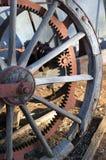 Ciérrese para arriba o resuma de la maquinaria agrícola del vintage imágenes de archivo libres de regalías