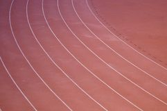 Ciérrese sube de pista del plástico del atletismo Fotos de archivo