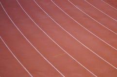 Ciérrese sube de pista del plástico del atletismo Fotografía de archivo