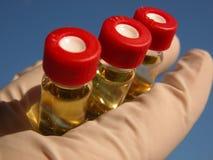 Ciência - 3 tubos de ensaio (2) Imagem de Stock