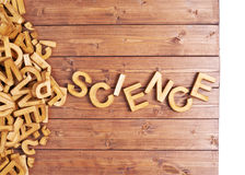 Ciência da palavra feita com letras de madeira Fotos de Stock Royalty Free