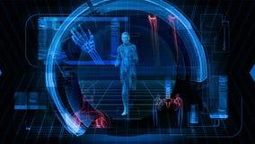 Ciência da saúde - laço gráfico da animação HD do fundo ilustração do vetor