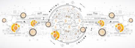 Ciência de cor ou fundo abstrato da tecnologia ilustração royalty free