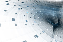 Ciência do negócio ou fundo abstrato da tecnologia ilustração do vetor
