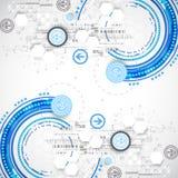 Ciência do negócio ou fundo azul abstrato da tecnologia