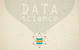 Ciência dos dados e conceito de uma comunicação ilustração stock