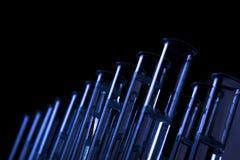 Ciência escura, tubos de ensaio Fotos de Stock