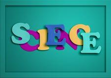 ciência Ilustração de papel do entalhe Letras engraçadas Foto de Stock Royalty Free