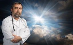 Ciência ou religião Fotos de Stock