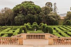 Ciò è il parco del labirinto del laberinto de Horta di Horta nello Spagnolo, disposto a Barcellona superiore, accanto alla montag fotografia stock libera da diritti