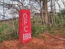 ciò è il segno della rete a fibra ottica di BharatNet, anche Bharat Broadband Network Limited fotografia stock