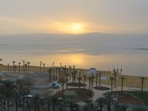 Ciò è il tramonto dalla camera di albergo Fotografie Stock Libere da Diritti