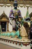 Statua del portone del tempio di sonno Budha a Penang Malesia Fotografie Stock Libere da Diritti
