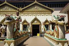 Statua del portone del tempio di sonno Budha a Penang Malesia 2 Fotografia Stock