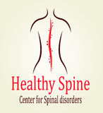 Ciò è logo della spina dorsale Corpo Fotografie Stock
