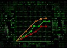 Ciò è un grafico con i dati di grafici multipli Fotografia Stock