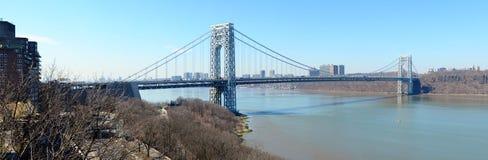 Panorama del ponte george washingtono Fotografie Stock Libere da Diritti