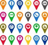 Icone degli indicatori di posizione Immagini Stock Libere da Diritti
