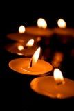 ciąć krótko płonące świeczki Obrazy Stock