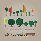 Ciąć Lasowych elementy Zdjęcie Royalty Free