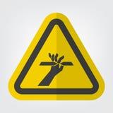 Ciąć palca symbolu znak Odizolowywa Na Białym tle, Wektorowa ilustracja EPS 10 royalty ilustracja
