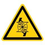 Ci?? palce Wiruje ostrze symbolu znaka Odizolowywa Na Bia?ym tle, Wektorowa ilustracja royalty ilustracja