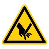 Ciąć palec Wędkujący ostrze symbolu znak Odizolowywa Na Białym tle, Wektorowa ilustracja royalty ilustracja