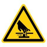 Ciąć ręk Poruszających części symbolu znak Odizolowywa Na Białym tle, Wektorowa ilustracja ilustracja wektor