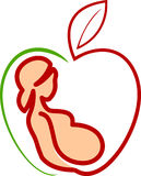 Ciążowa opieka royalty ilustracja