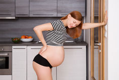 Ciążowy backache Zdjęcie Royalty Free