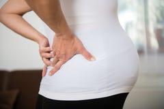 Ciążowy backache obrazy royalty free