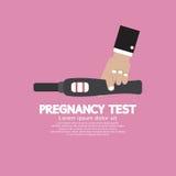Ciążowy Próbny narzędzie W ręce Z pozytywnym wynikiem Zdjęcie Stock
