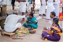 Ciążowy rytuał przy Amma Mandapam Zdjęcie Stock