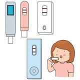 Ciążowy test royalty ilustracja