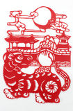 Porcelanowy czerwień papieru rozcięcie Obrazy Royalty Free