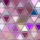 Ciągły abstrakta wzór w roczniku barwi - wielostrzałowego geometrycznego trójbok mozaiki tło royalty ilustracja