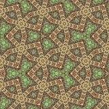 Ciągły arabesk, ornamentacyjna mozaika w zieleni, cyraneczka, menchia fotografia royalty free