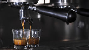Ciągnięcie kawa espresso Fotografia Royalty Free