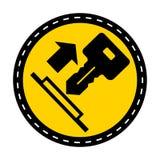 Ciągnienie symbolu Kluczowy znak Odizolowywa Na Białym tle, Wektorowa ilustracja ilustracja wektor